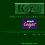 Die KoZe-Seite anno 2001