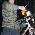 Aber man kann das Fahrrad immernoch dazu verwenden, den Wald auszuleuchten.
