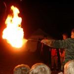 Das ist unser Flammenwerfer, den außer Klaus aber nie jemand benutzen will..