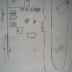 Das ist der Überfall-Plan vom Effringer Zeltlager 2000, nach dem wir vorgegangen sind.