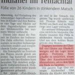 """Unter der Überschrift """"Indianer im Teinachtal"""" erschien am 29. Sept. 2005 im Schwarzwälder Boten ein Artikel über ein Zeltlager mit Erwähnung von KoZe. Die Tatsachen sind zwar verdreht, aber Hauptsache in der Zeitung sein!"""
